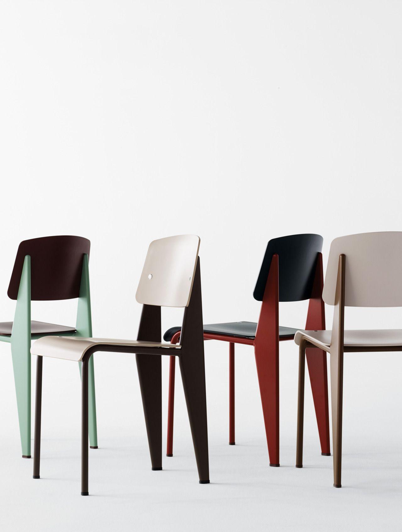 Prouvé Standard Chair by Vitra at DWR & Prouvé Standard Chair by Vitra at DWR | Furniture | Fixtures | Etc ...