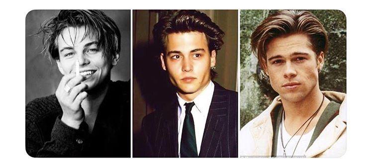 Leonardo Dicaprio Johnny Depp Brad Pitt 90 S With Images