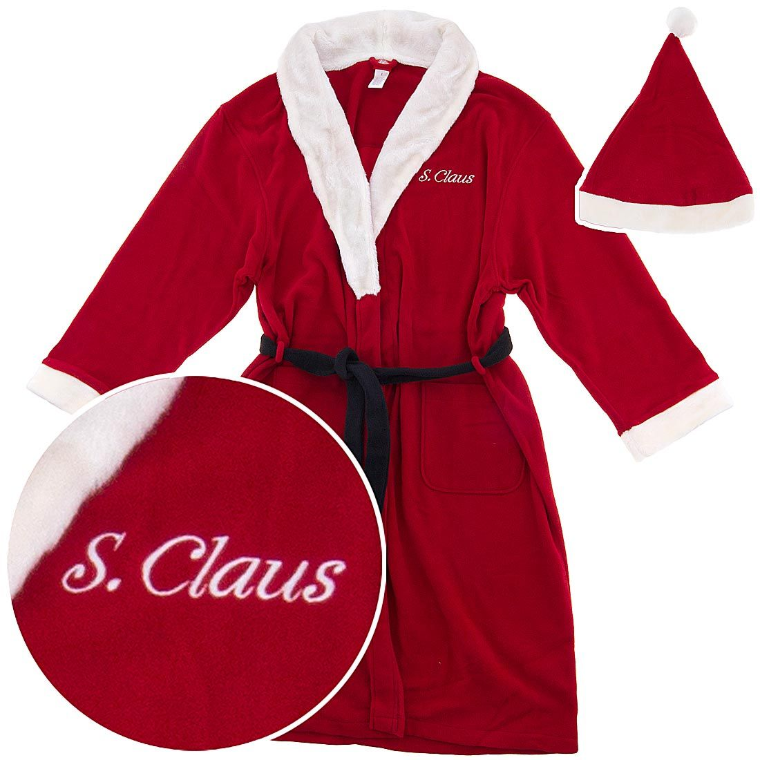 quality first harmonious colors premium selection Santa Christmas Bath Robe for Men - One of the most popular ...