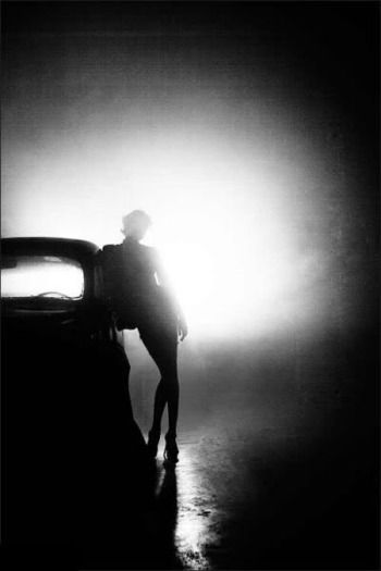 This etherial silhouetted figure works so well with the subject and ...