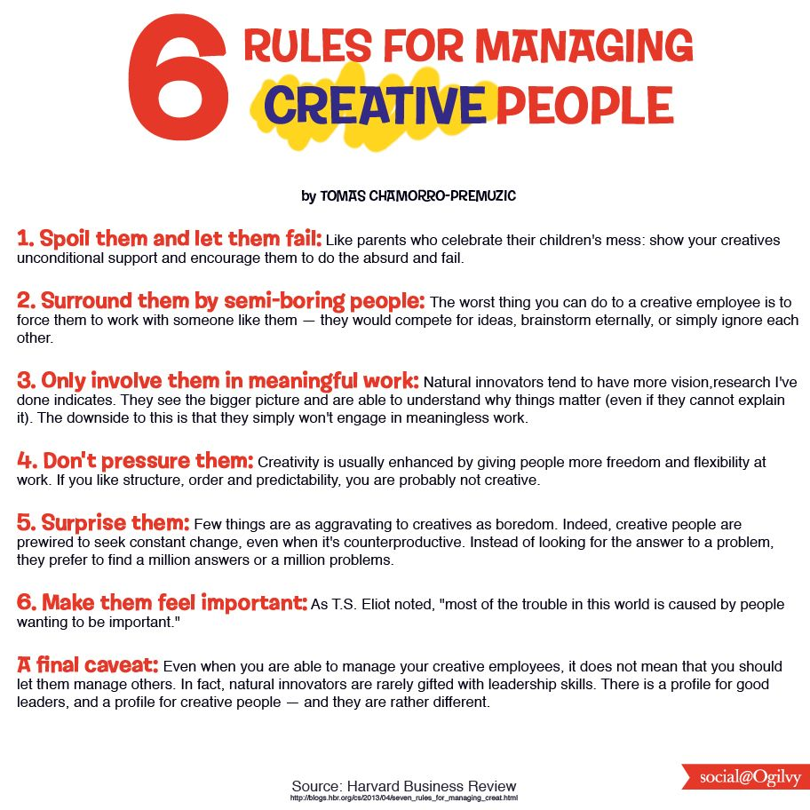 Seven Rules For Managing CreativeButDifficult People  Harvard