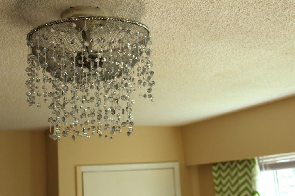 diy chandelier rhinestone light fixture home decor
