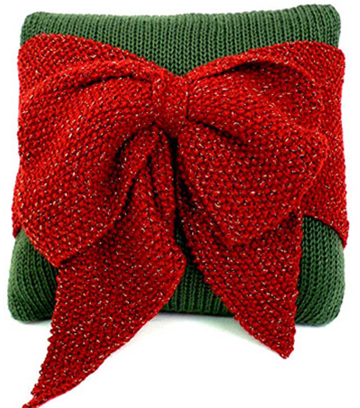 Christmas Bow Pillow | Knit Bow Pillow | FREE Knitting pattern from ...