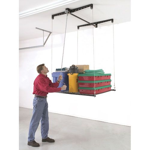 Heavy Lift Retractable 4x4 25000 Overhead StorageCar Roof StorageBike Storage Garage