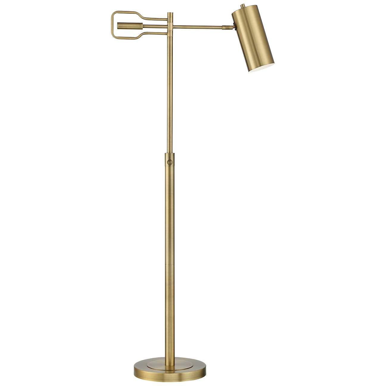 Kaylie Brass Finish Adjustable Task Reading Floor Lamp 88g99 Lamps Plus In 2021 Reading Lamp Floor Floor Lamp Lamp Reading floor lamps adjustable