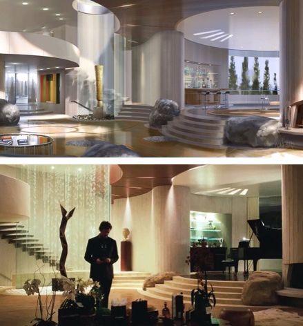 Stark Modernism Tony Stark S Malibu Home From Iron Man Casas De Luxo Arquitetonico Ideias De Casas