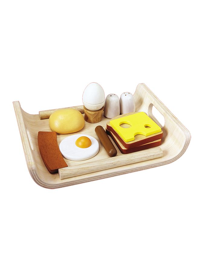 Zestaw drewnianych akcesoriów dla lalek - śniadanie - Świat zabawek - zabawki - Limango