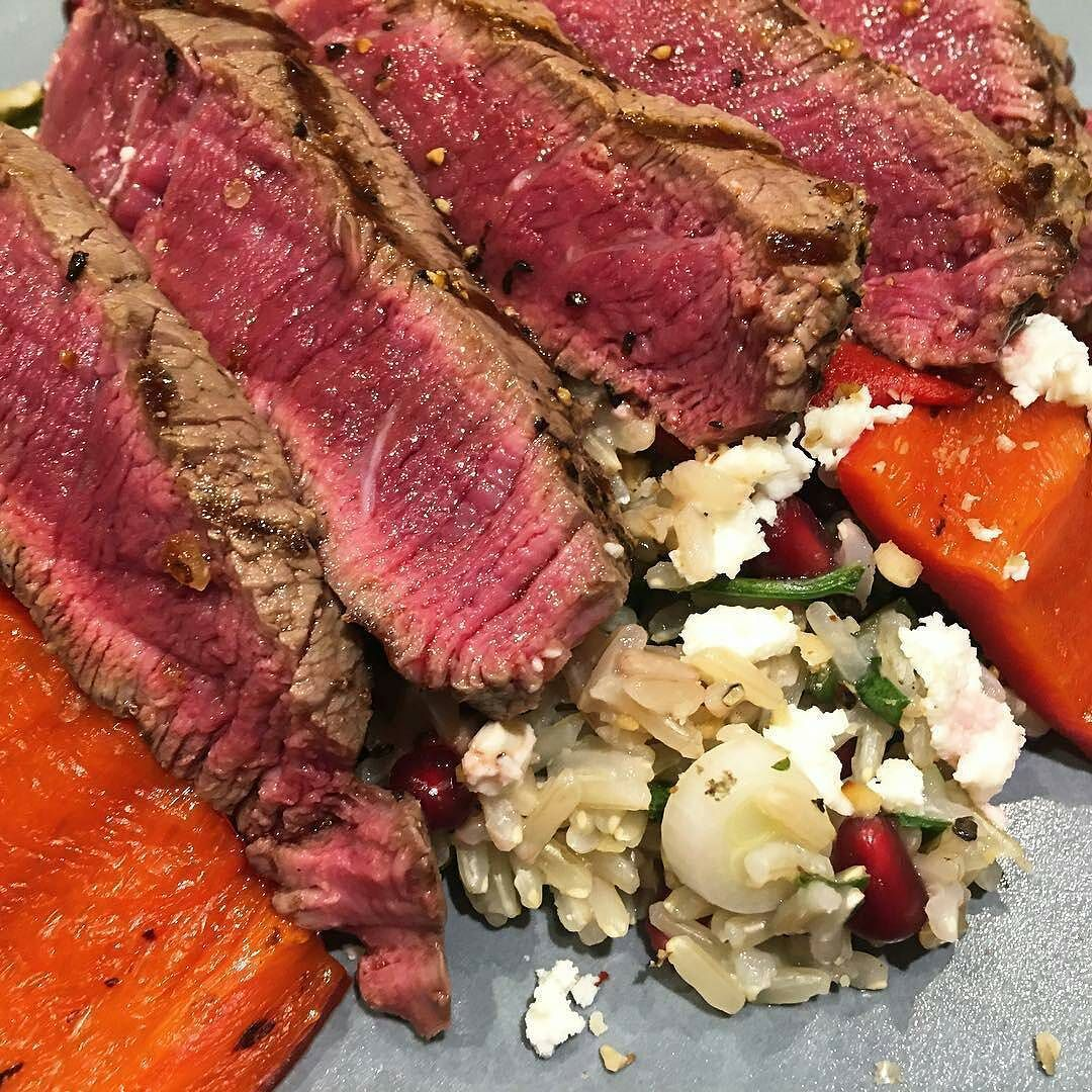 If this is considered healthy then yeah I guess I could go on a diet!? Pic courtesy of @gourmetgoat -  Fillet steak with a brown rice salad and roasted peppers. Something #healthy from a @jamieoliver book. Yummy yummy yum yum . . . #Grill #Grilling #Beef #BeefPorn #Steak #SteakPorn #Food #Foodie #FoodPhotography #Foodstagram #InstaFood #FoodPics #foodphotos #Foodgasm #Meat #MeatPorn #Paleo #GlutenFree #EEEEEATS #ForkYeah #ManFood #carnivore #MeatSweats #fatnessacademy #BBQBrotherhood…
