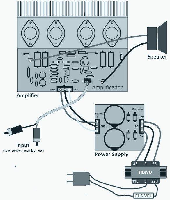 120W Power Amplifier Wiring | 120W Power Amplifier Wiring ...