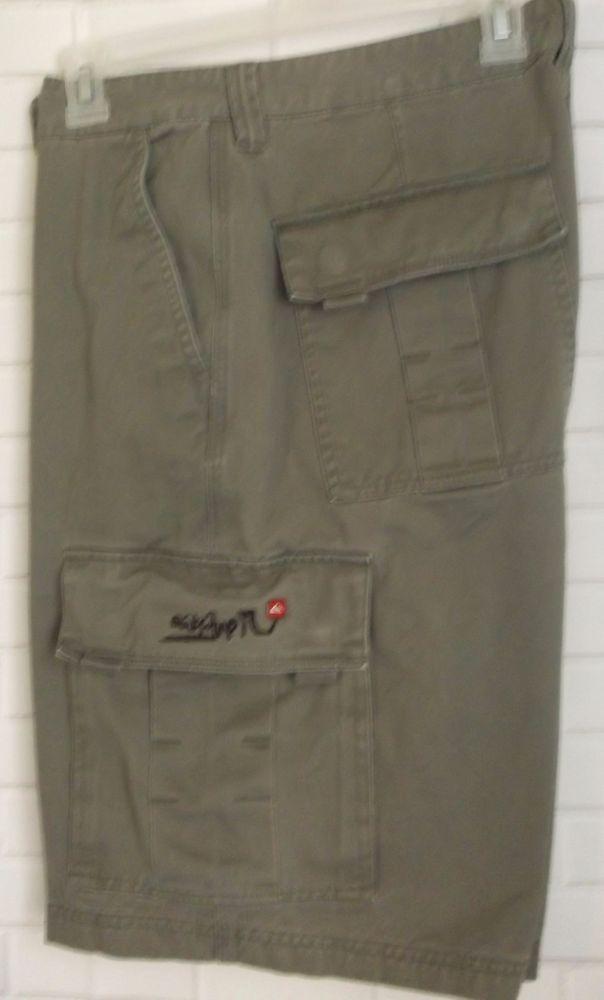 Quicksilver Men S Gray Cargo Shorts Size 34