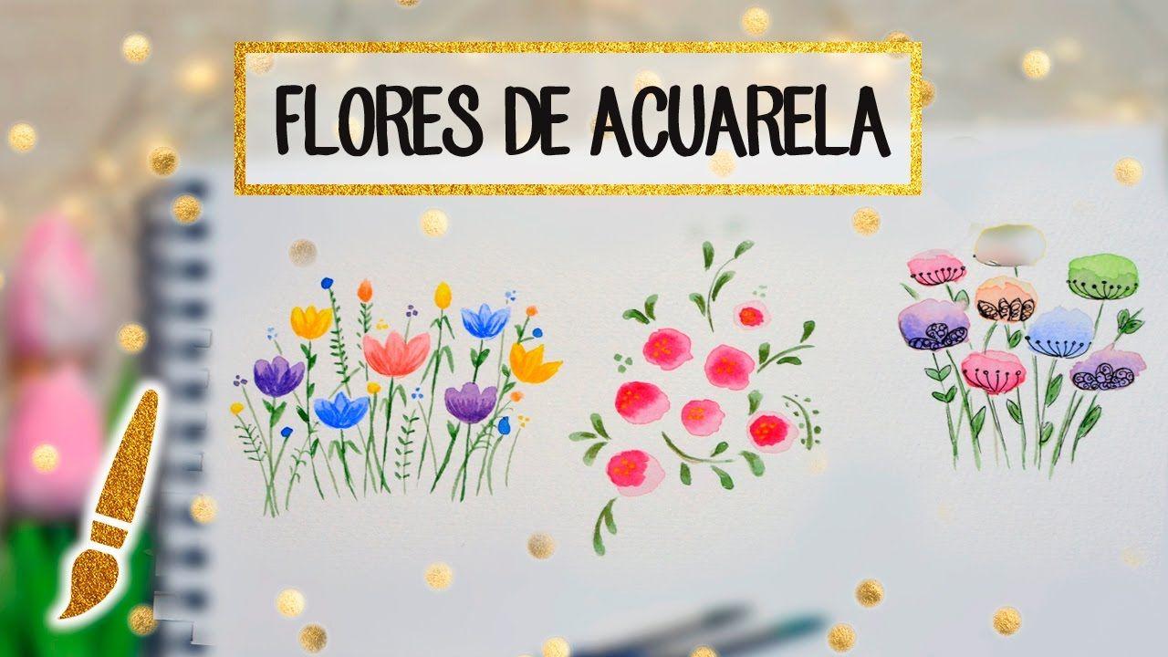 3 Flores De Acuarela Faciles En 2 Minutos A Dibujar 07