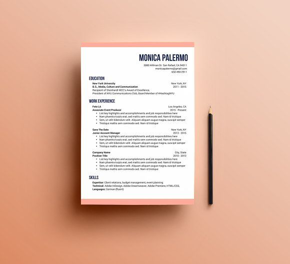 the modern resume template  creativework247