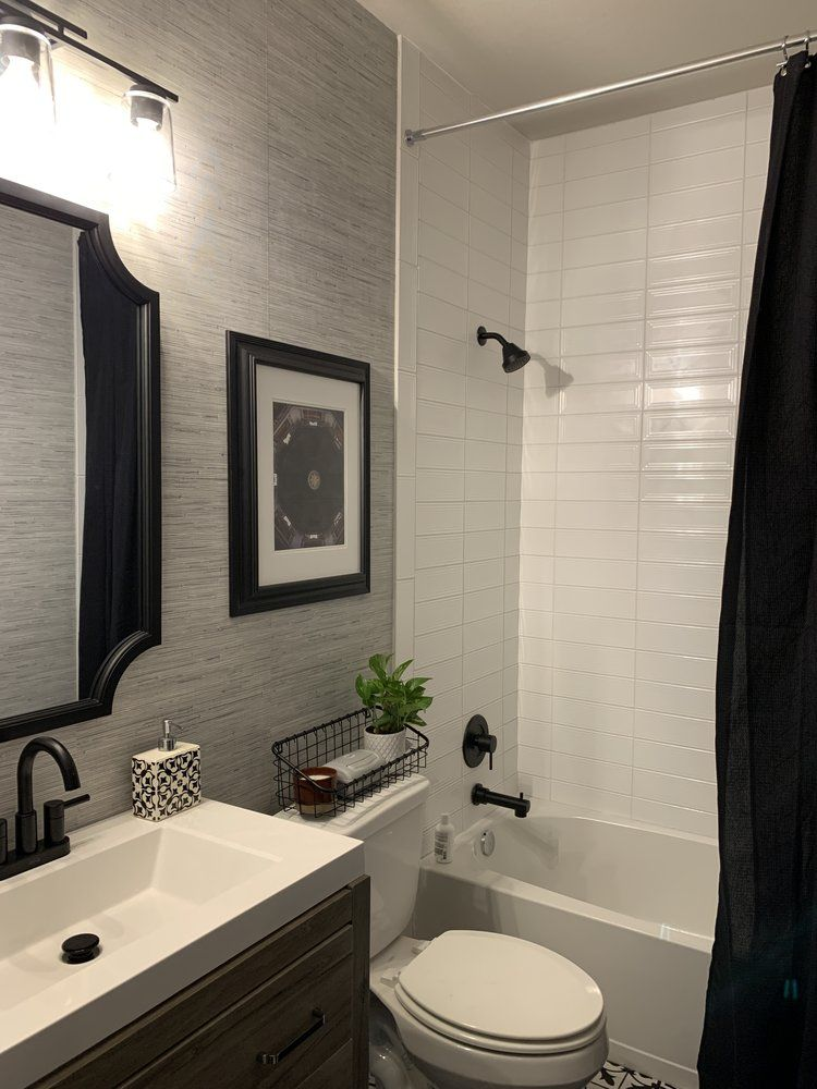 Updated Making Your Own Window Grids Grilles Mullions The Rozy Home In 2020 Guest Bathroom Remodel Bathrooms Remodel Guest Bathroom