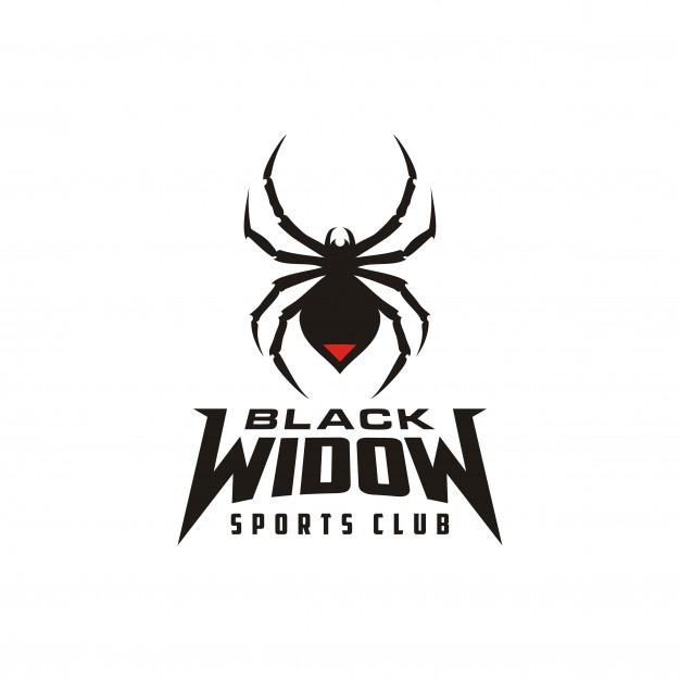 Silhouette Black Widow Spider Insect Arthropod Emblem Sport Logo