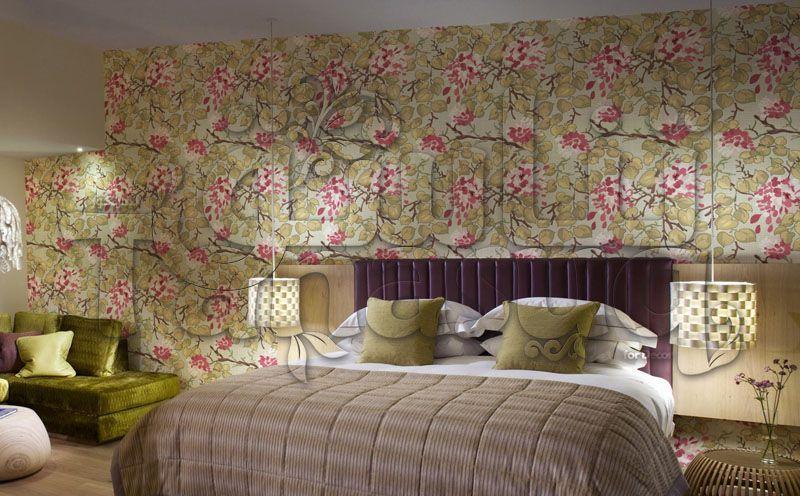 ورق حائط ورد و شجر Tanasuq Home Decor Home Decor
