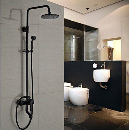 Gowe Modern 8 Rainfall Round Showerhead Bathroom Shower Https