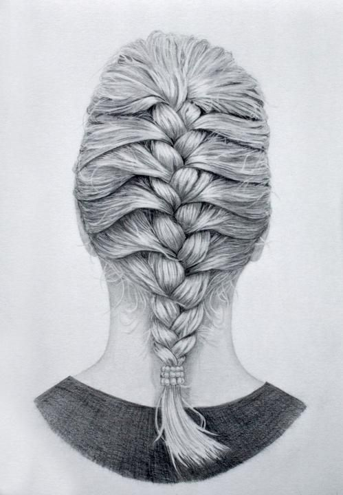Pin By Joan Vonk On Drawings How To Draw Braids French Braid How To Draw Hair