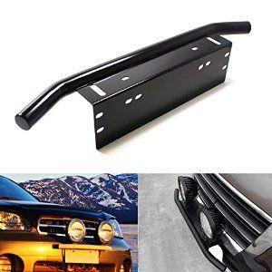 Front Bumper Bull Bar Attaches To License Plate Mount For Fog Lights Bull Bar Bar Lighting Led Light Bars