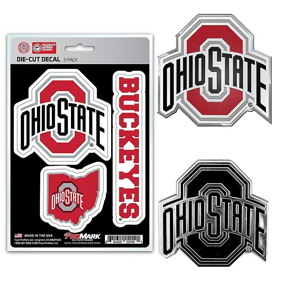 Ohio State Buckeyes Automotive Team Emblem Color and Chrome