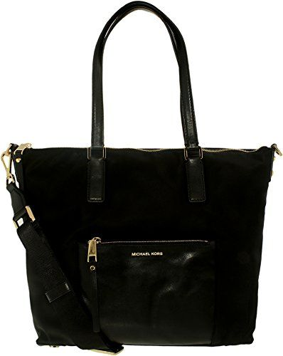 a4dfcc20feea MICHAEL Michael Kors Ariana Large Nylon Tote (Black). 100% Nylon with Gold