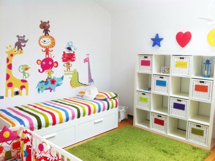 Recamara compartida para ni a y beb que las hermanas for Vinilo para habitacion de nena
