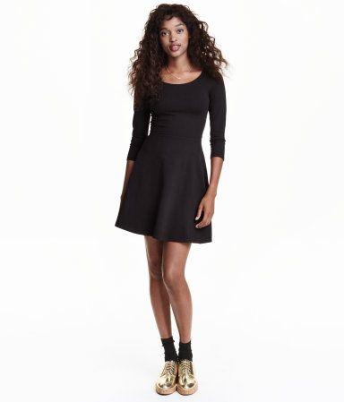 84eccf86c989d3 Jerseykleid | Schwarz | Ladies | H&M DE | •STYLE• | Jerseykleid ...