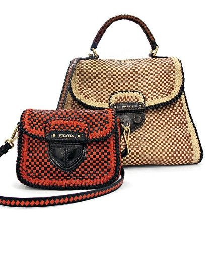 The Prada-Made in India bags are made by hand in small artisanal workshops  using vegetable dyed Madras goat leather 2cd44da6ac38a