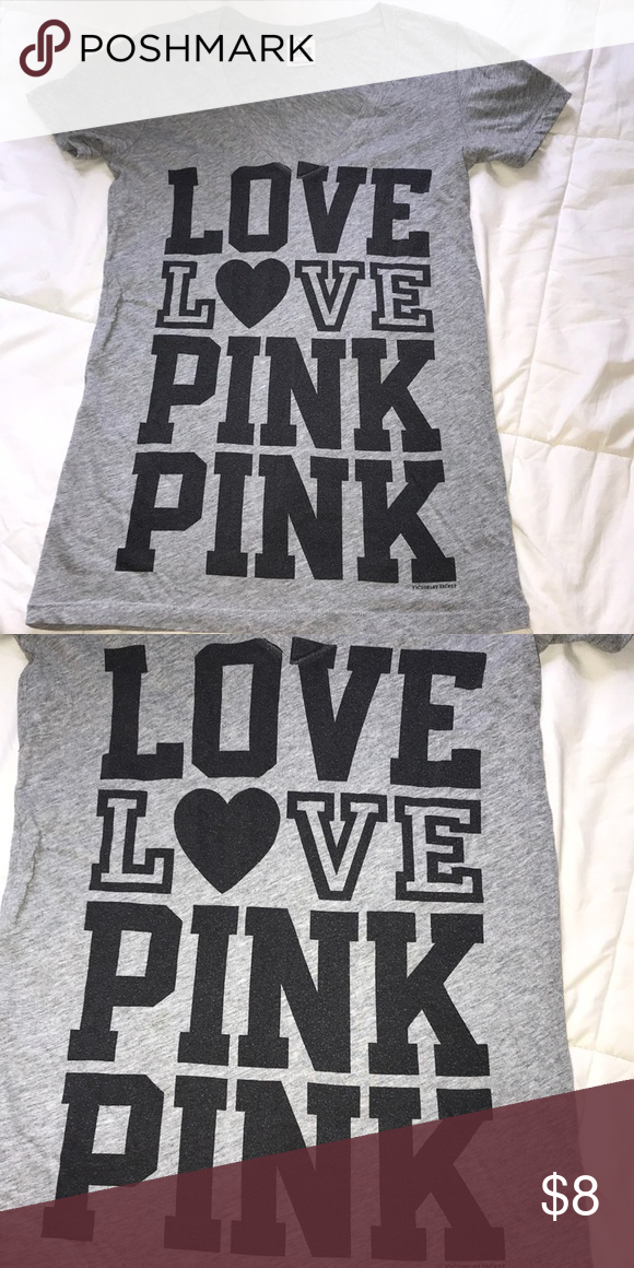Victoria's Secret Pink Graphic Tee •soft, comfy fit •the