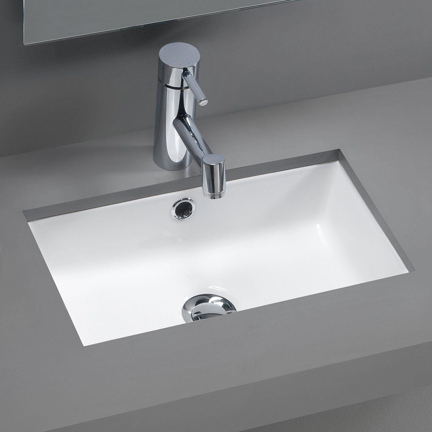 Bissonnet 118 Traffic Agres Under Mount Bathroom Sink White