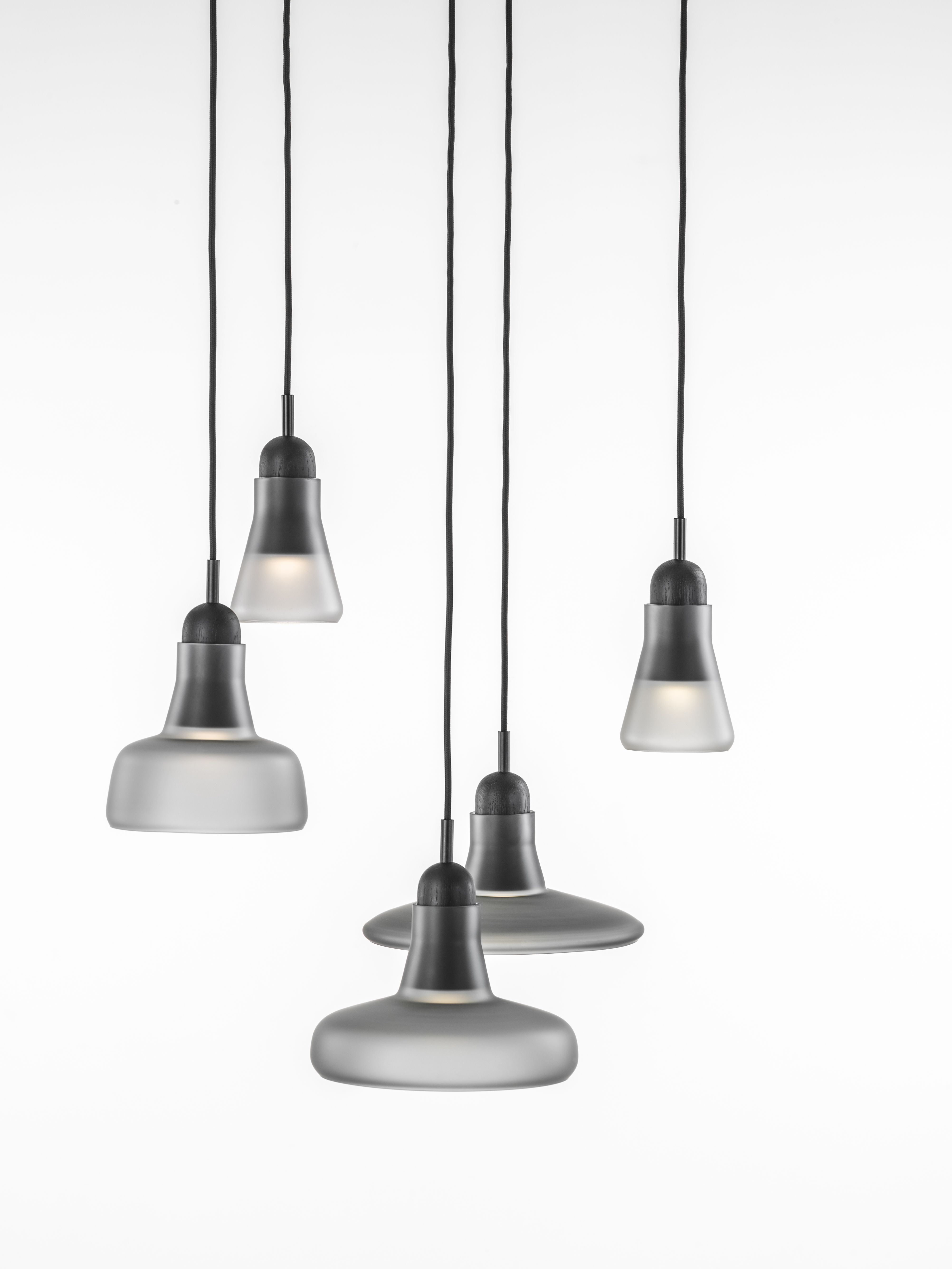 Dan Yeffet & Lucie Koldova white interior - brokis lights - grey mat shadows are