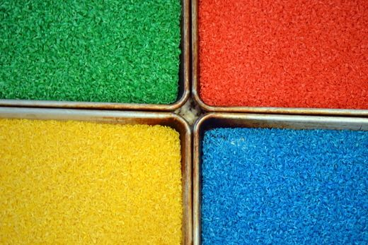 The Basics: How to Color Rice (and pasta).  Perfect for sensory play and art projects!