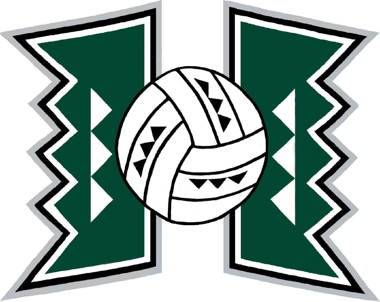 Volleyball And Hawaii Hawaii State University University Of Hawaii Arizona Logo