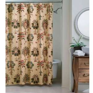 Bring Tropical Style To Your Bathroom Decor With This Cocobay Shower  Curtain. A Stunning Palm Tree Design Decorates This Cotton Shower Curtain.