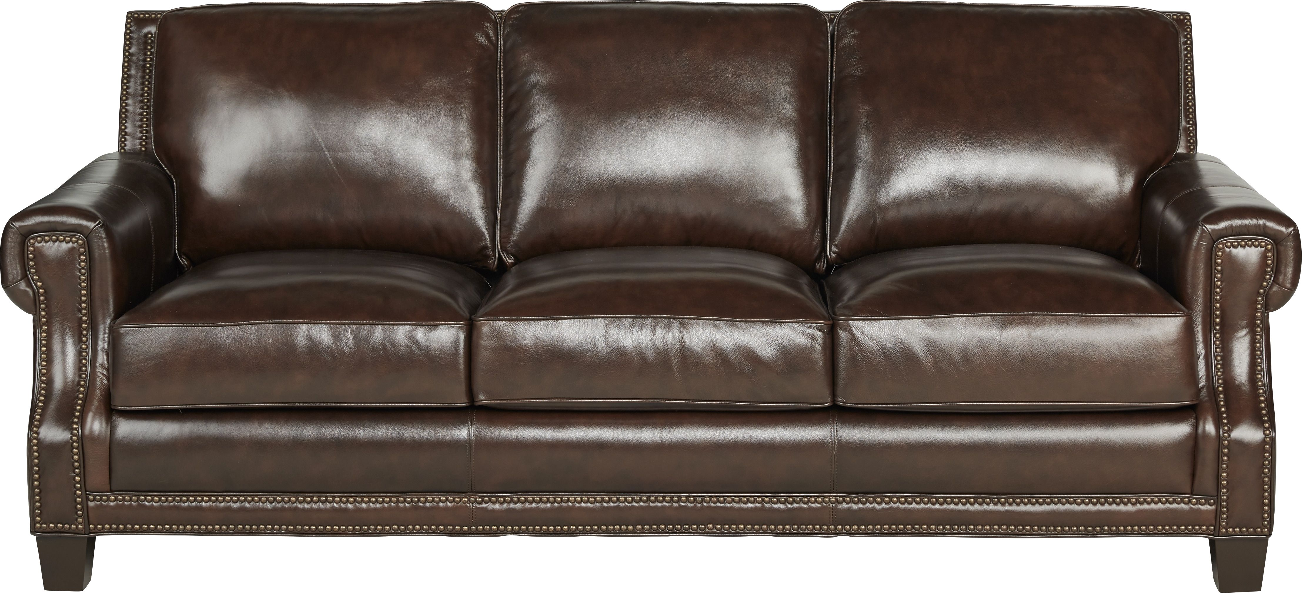 Vicenza Chocolate Leather Sofa | Sofas in 2019 | Real ...