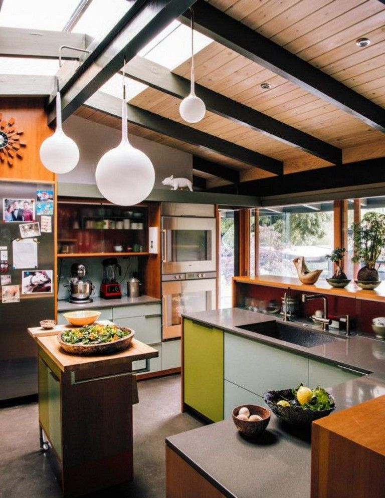 Best 50 Beautiful And Elegant Retro Mid Century Kitchen Ideas 640 x 480