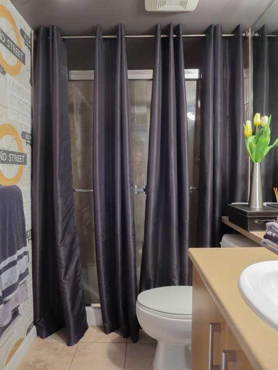 shower doors black shower curtains