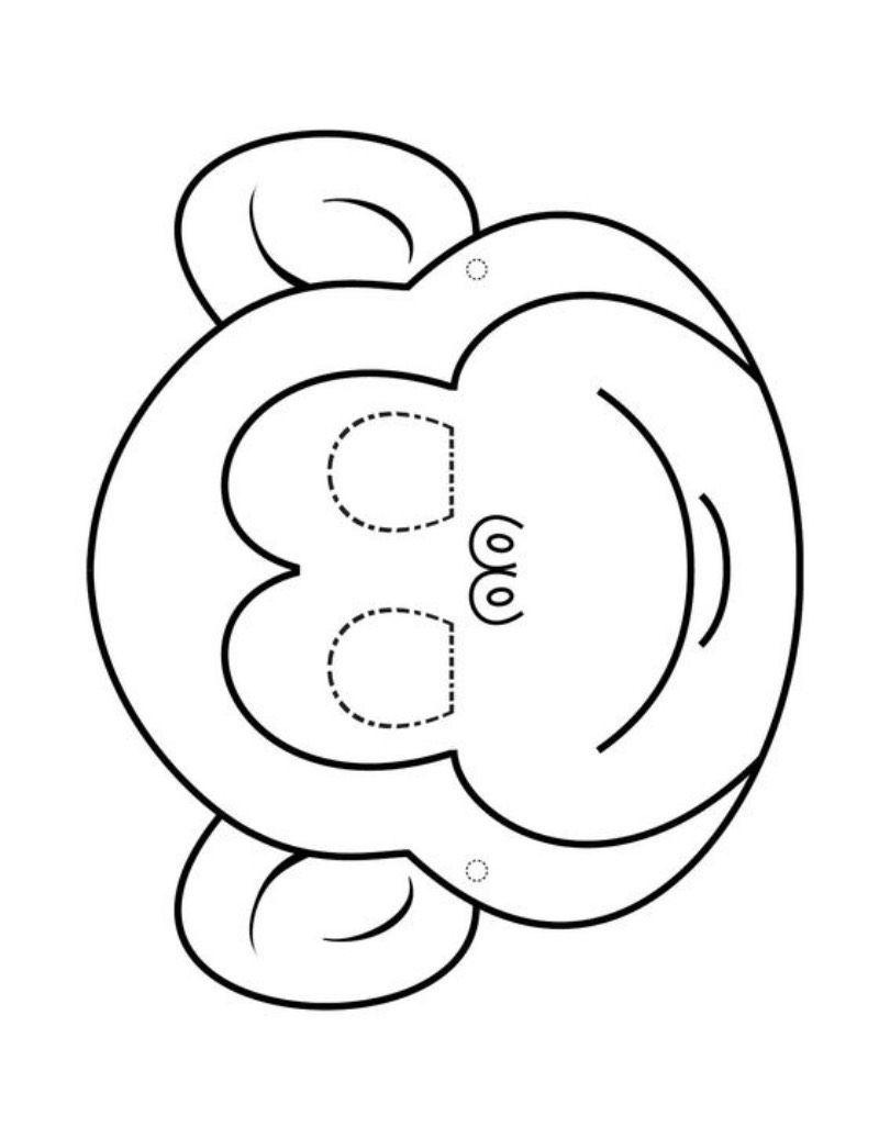 Wycinanki Dla Dzieci Do Druku Szukaj W Google In 2020 Animal Mask Templates Printable Coloring Masks Tooling Patterns