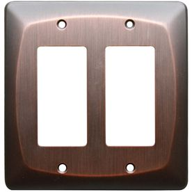 "Allen And Roth Wall Plates New Allen  Roth 5"" X 518"" Dark Oilrubbed Bronze Decorator Rocker Design Decoration"
