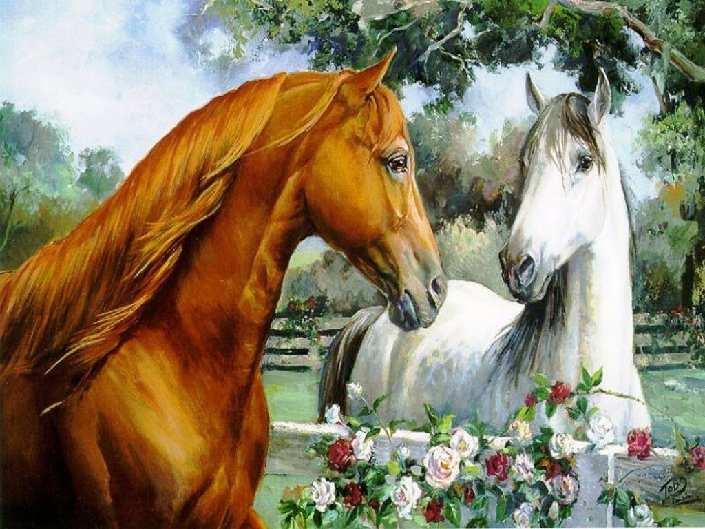 More Horse Wallpapers Horses 15705283 1024 768 Horse Wallpaper White Horse Painting Horse Painting