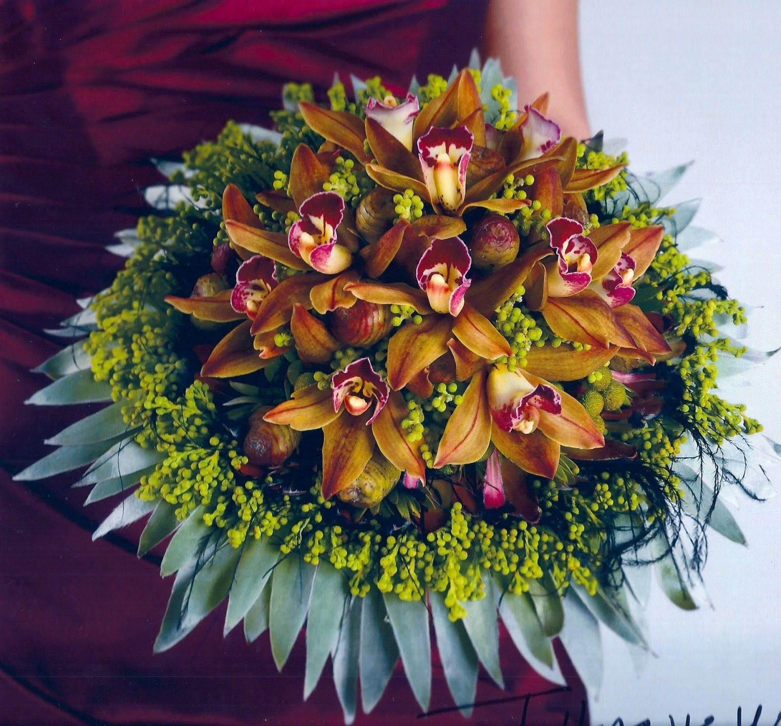 passion flower bouquet | ... the bronze cymbidium orchids Rene\'s ...