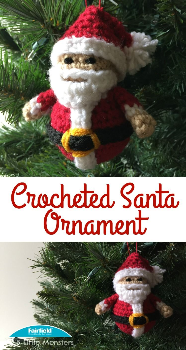 Crocheted Santa Ornament (5 Little Monsters)   Projects to try ...