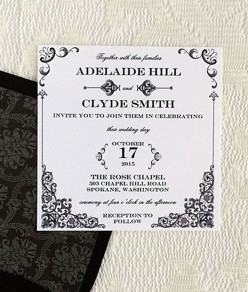 Diyvintageironandlacesquareweddinginvitationtemplate - Wedding invitation templates: wedding invitation template download and print