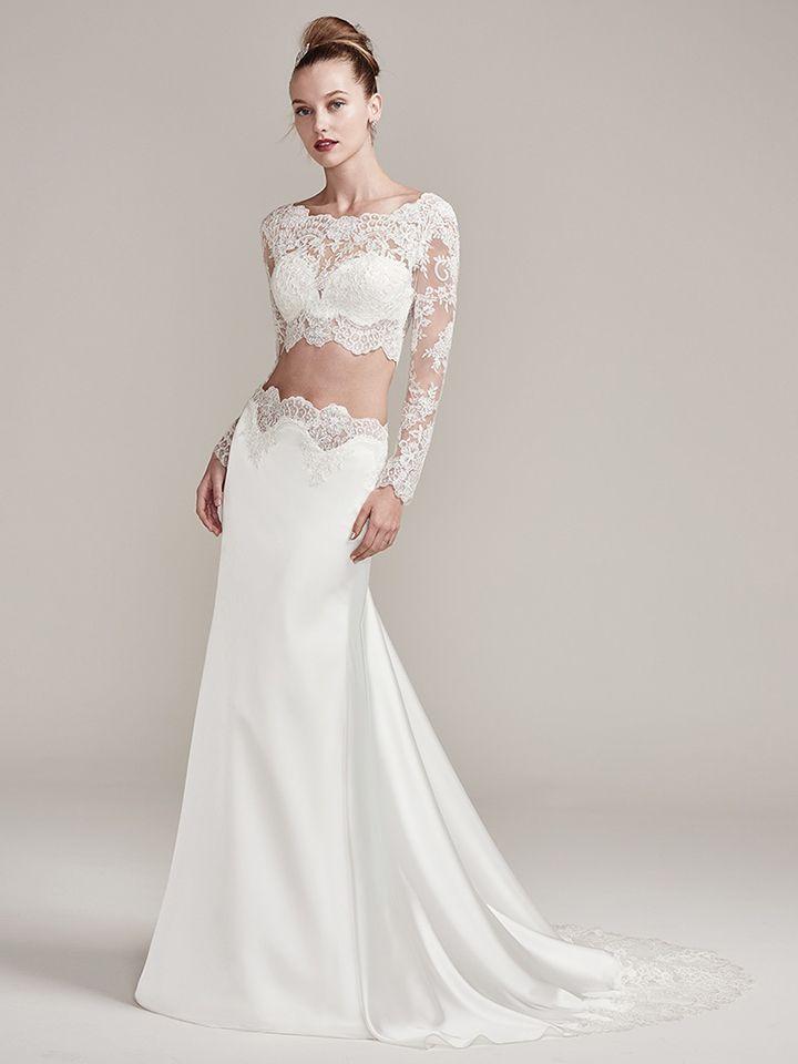 Fall 2017 Bridal Fashion Week Trends - Lacey Two Piece | Arizona ...