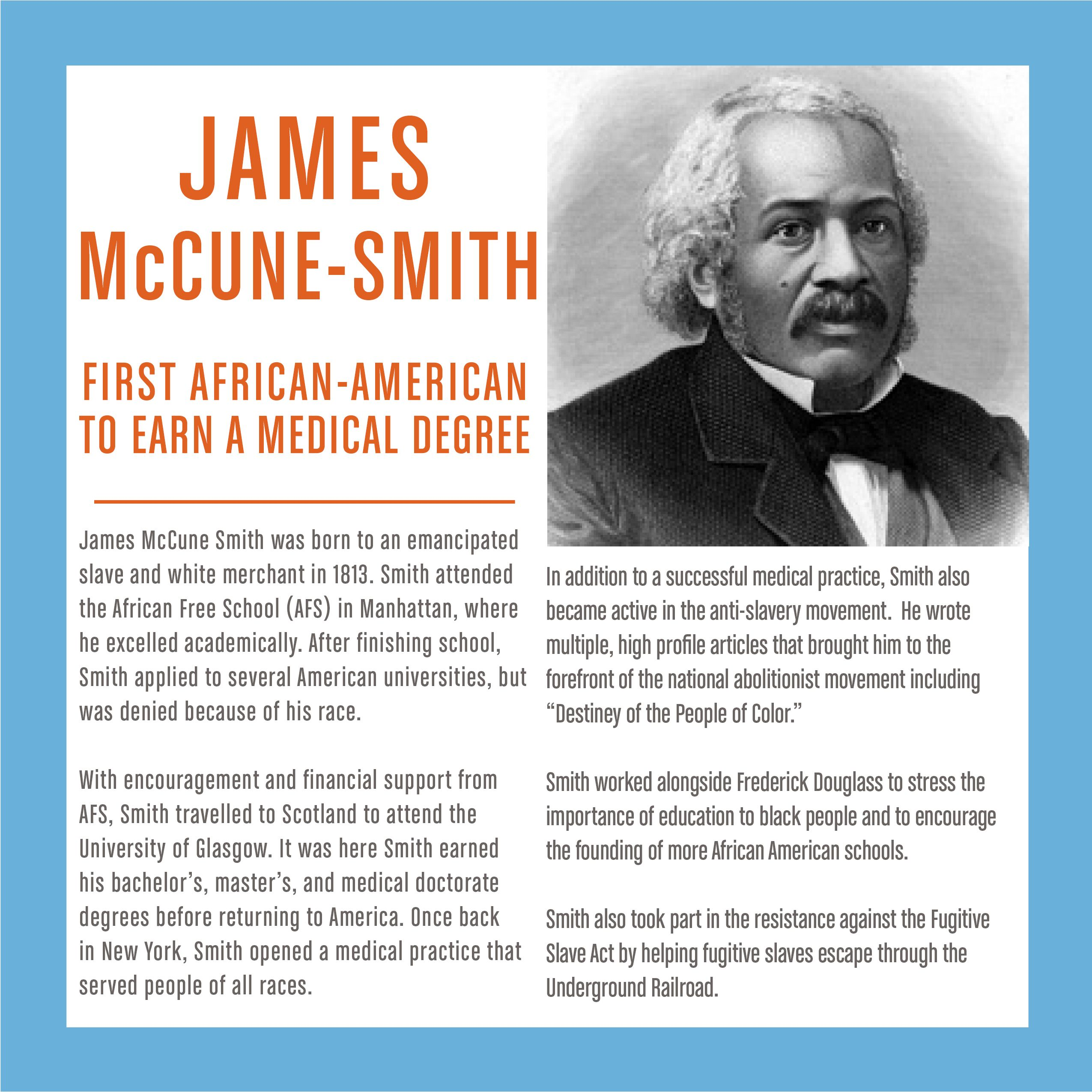 Washington Stem James Mccune Smith First African