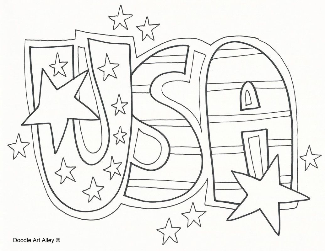 Independence Day And Other Patriotic Coloring Pages From Doodle