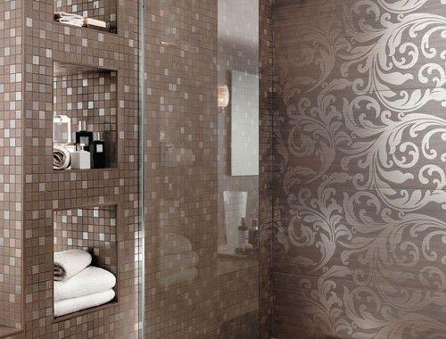 Bagno Design ~ Brillant greigeperle acanthe foto #rivestimenti #pastabianca