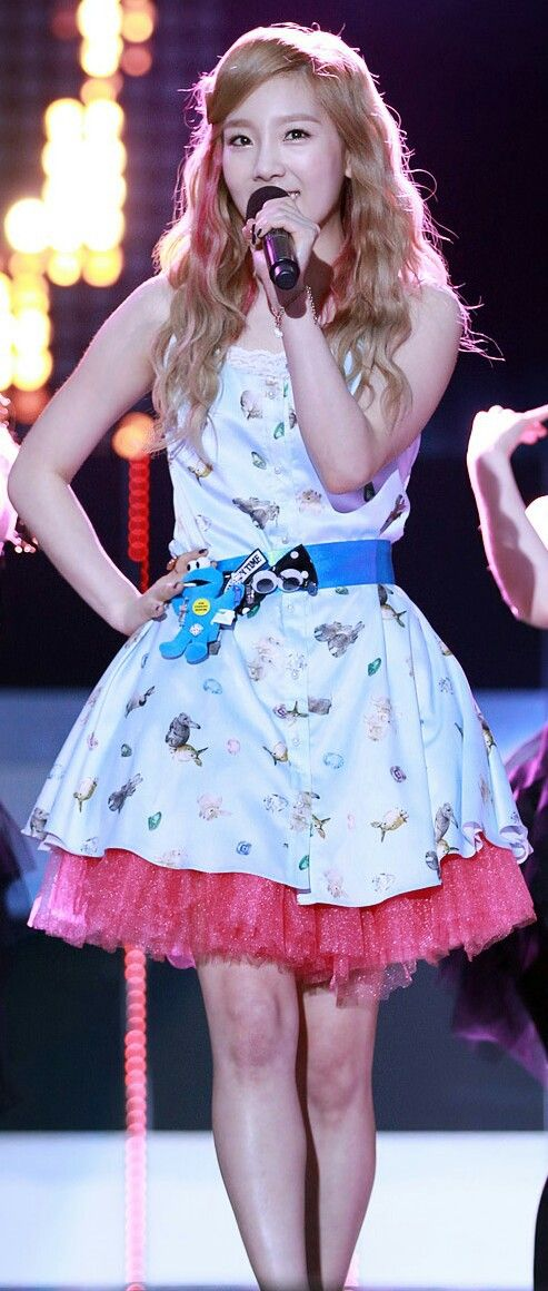 #taeyeon #snsd #singer #hairstyle #alohacollection #cute #beautiful #color #fashion #concert #dancing
