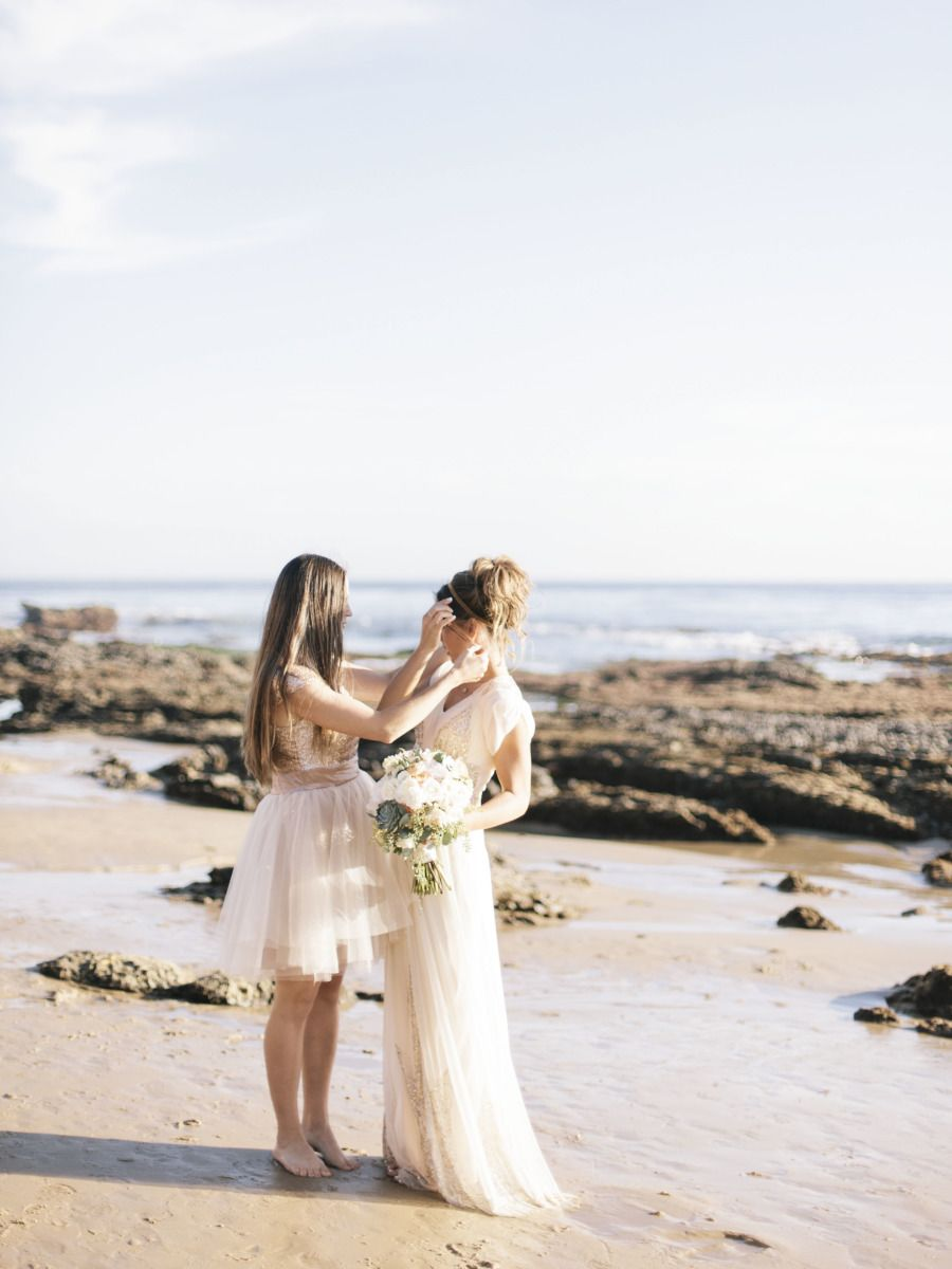 Glittering Seaside Wedding In Newport Beach Bridesmaid Dresses
