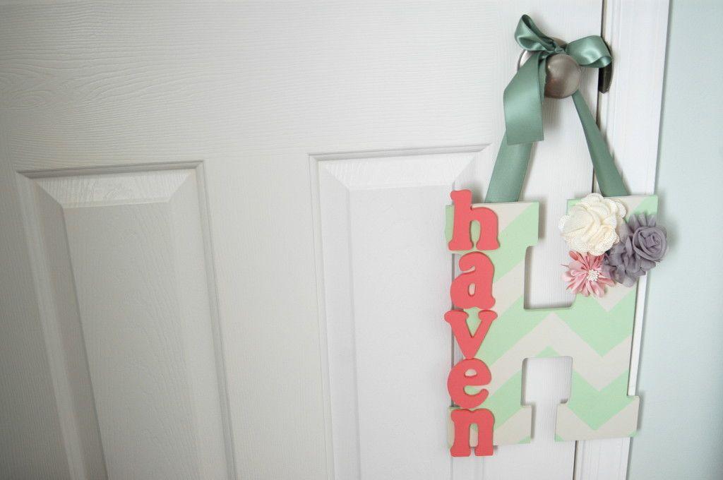 DIY Nursery Doorhanger