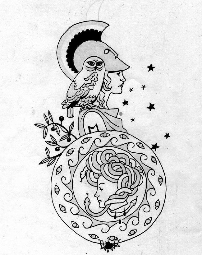 Pin By Kaitlyn O Dell On Tattoos Athena Tattoo Mythology